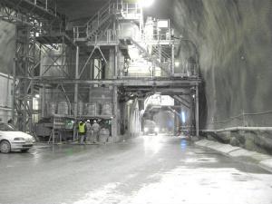 Budowa tunelu drogowego w Szwajcarii